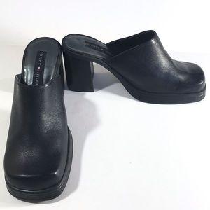 Tommy Hilfiger Black Chunky Heel Size 7.5